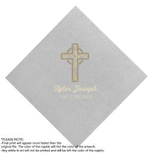 Gold Cross Photo/Full Color Napkin