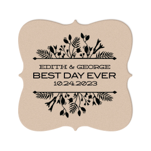 Best Day Ever Floral Coaster