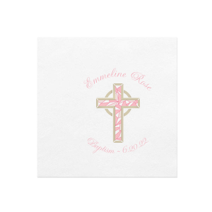 Pink Cross Photo/Full Color Napkin