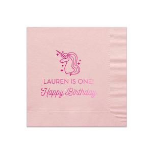 Unicorn Birthday Napkin