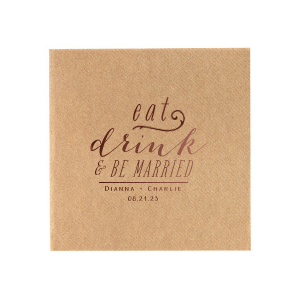Eat Drink & Be Married 2 Napkin