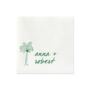 Palm Tree Couple Napkin