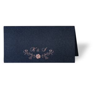Delicate Floral Place Card