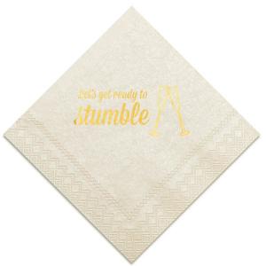 Champagne Stumble Napkin