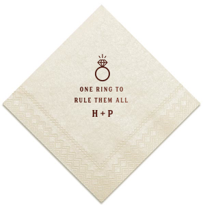 One Ring To Rule Napkin