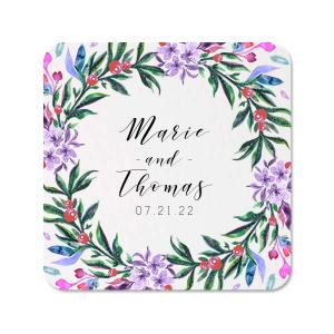 Vibrant Wreath Photo/Full Color Coaster