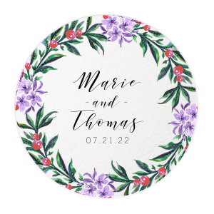 Vibrant Wreath Photo/Full Color Coaster