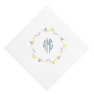 Bright Wreath Photo/Full Color Napkin