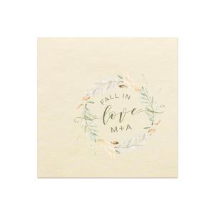 Fall In Love Photo/Full Color Napkin