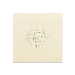 Fall In Love Photo/Full Color Napkin