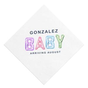 Balloon Baby Photo/Full Color Napkin