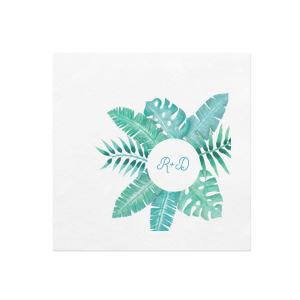 Tropical Leaf Frame Photo/Full Color Napkin