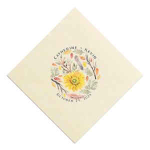 Autumn Floral Photo/Full Color Napkin