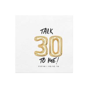 Talk 30 Balloon Photo/Full Color Napkin