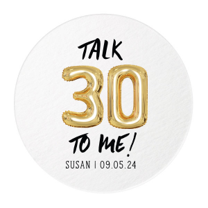 Talk 30 Balloon Photo/Full Color Coaster