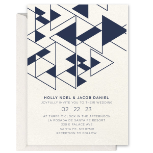 Triangles Letterpress Invitation