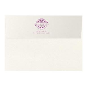 Wedding Badge Letterpress Envelope