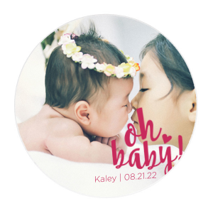 BABY Balloon Photo/Full Color Coaster