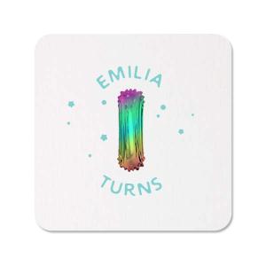 Rainbow Balloon Photo/Full Color Coaster