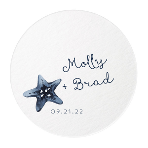 Nautical Star Photo/Full Color Coaster
