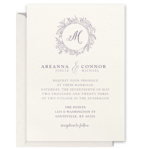 Floral Wreath Foil Invitation