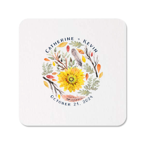 Autumn Flowers Photo/Full Color Coaster