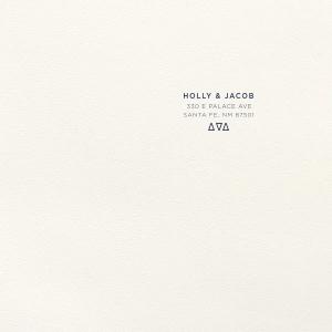 Triangle Letterpress Envelope