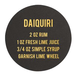 Daiquiri Recipe Coaster