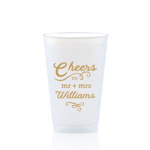 Flourish Cheers Swirl Frost Flex Cup
