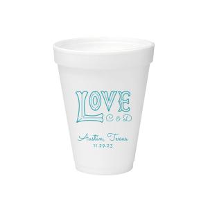 Love Word Art Foam Cup
