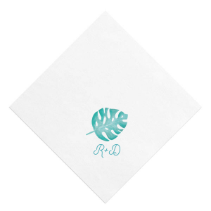 Tropical Leaf Photo/Full Color Napkin