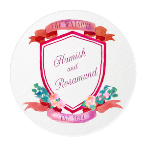 Romantic Red Crest Coasters