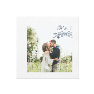 Florally Elegance Photo/Full Color Napkin