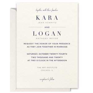 Geometric Flourish Foil Invitation