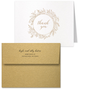 Floral Frame Thank You Card