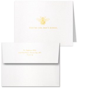 You're The Bee's Knees Thank You Card