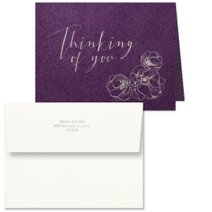Thinking Of You Flowers Note Card