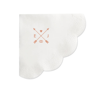 Hearts and Arrows Wedding Napkin