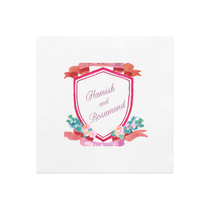Romantic Red Crest Photo/Full Color Napkin
