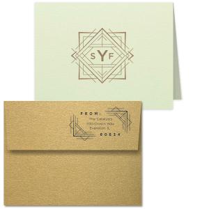 Diamond Deco Monogram Note Card