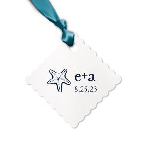 Starfish Initials Tag