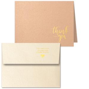 Script Heart Thank You Card