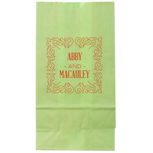 Linear Floral Frame Bag