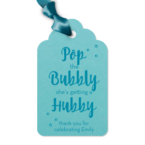 Bubbly Bride Tag