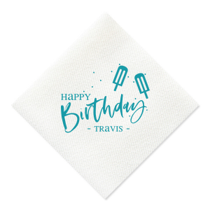 Popsicle Birthday Napkin