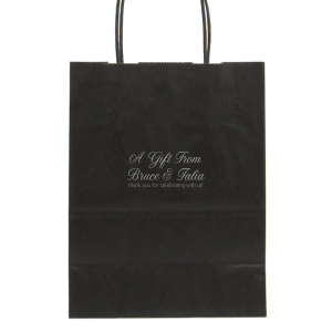 photo of 25 Personalized Black Paper Gift Bags