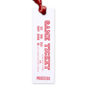 Bachelor Ticket Bookmark