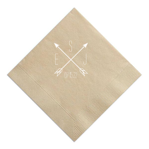 Arrow Monogram Napkin