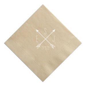Arrow Monogram Napkin