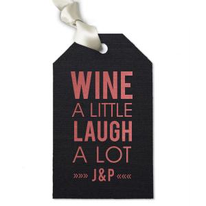 Modern Type Wine Tag
